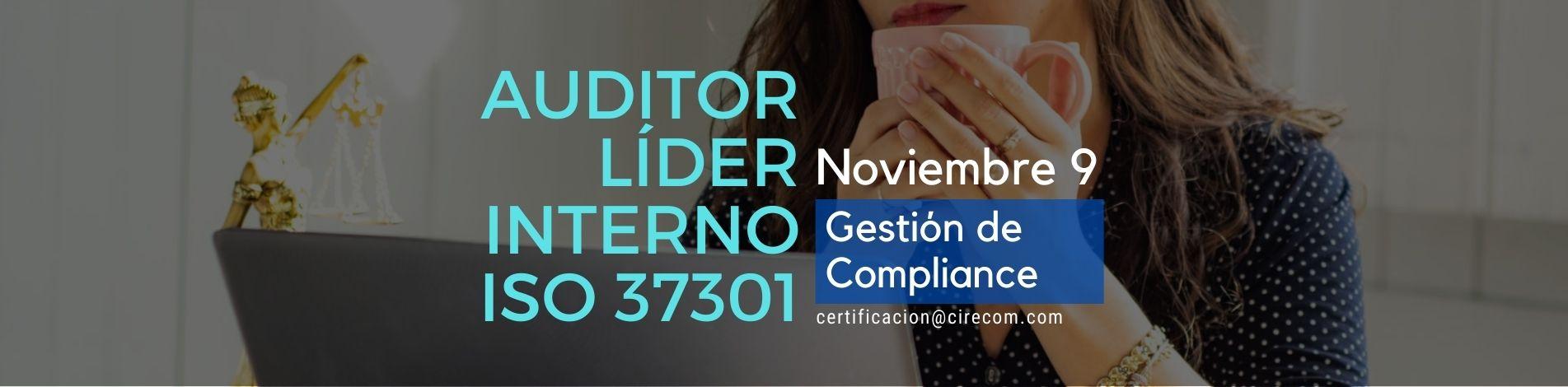 Auditor ISO 37301 Gestión de Compliance Noviembre 9