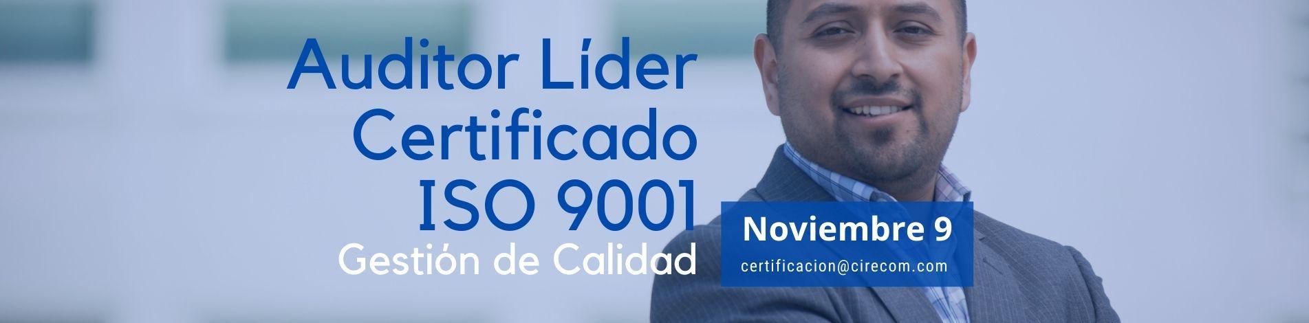 Auditor Líder ISO 9001 - Noviembre 9